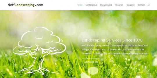 Neff Landscaping Website Design