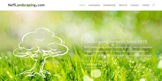 Neff Landscaping Website Design